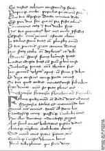 Handwriting of Francesco Petrarch
