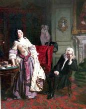 William Powell Frith Depicts the Moment After Pope Makes Love to Lady Mary Montagu, 1852
