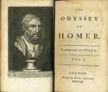 Frontispiece and Titlepage of Pope's Translation of Homer's Odyssey, 1752
