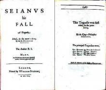 """The Title Page of """"Sejanus"""" (1616 Folio Edition)"""