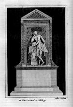 The Shakespeare Monument in Poets' Corner of Westminster Abbey