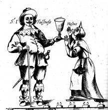 Sir John Falstaff and the Hostess (1662)