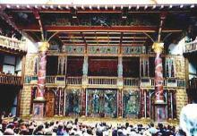 The Globe Stage with Audience