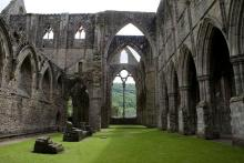 Inside Tintern Abbey, founded 1136