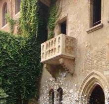 A Balcony in Verona, called Juliet's
