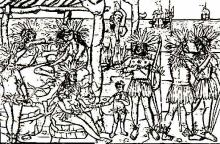 A Woodcut of New World Natives From The 16th century