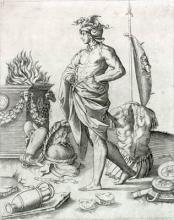 Alcibiades by Agostino Veneziano (ca. 1490-1540): Timon.