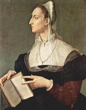 Angelo Bronzino (1503 - 1572): portrait of Laura Battiferri