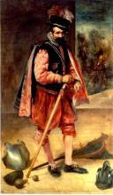 """""""Don Juan de Austria"""" as mocked by Velázquez, when re-enacted by a Court Clown, 1635-1645"""
