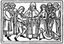 Early Woodcut of Griselda in De Mulieribus Claris
