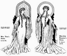 Hamlet, Fashions of Gertrude and Ophelia, 1905