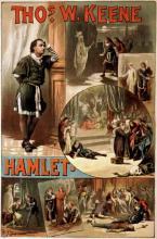Hamlet, Thomas Keene (1840-1898) as Hamlet (Poster)