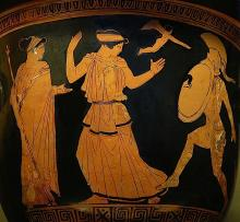 Helen re-encounters her husband Menelaus