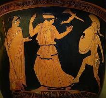 Helen re-encounters her husband Menelaus