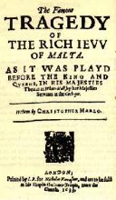 """The Jew of Malta"" Title Page (1633 Edition)"