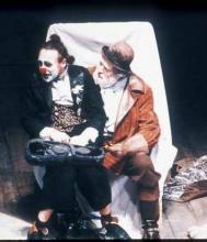 King Lear: Michael Gambon as Lear, Antony Sher as Fool