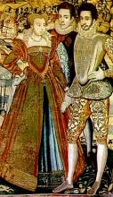 La Reine Margot (Marguerite de Valois) and Other Members of the Valois Court