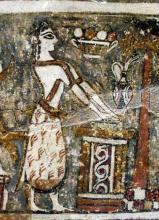 Minoan Woman: Detail of a Bull Sacrifice