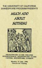 Much Ado About Nothing, Berkeley Shakespeare Program, 1996 (Program Flyer)