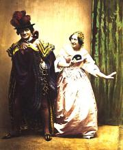 Much Ado About Nothing, Charles Kean as Benedick and Ellen Kean as Beatrice, Princess's Theatre, 1858