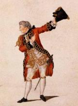 Much Ado About Nothing, David Garrick in his last performance as Benedick, Drury Lane Theatre, London, 1776