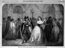 Much Ado About Nothing (II.i, the masked ball scene), Charles Kean as Benedick, Mrs. Kean as Beatrice, Princess' theatre, 1859