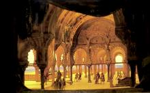 Eugene Carpezat (1833 - 1912): Set for Otello by Verdi