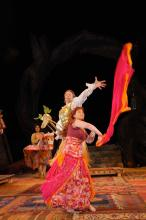 Pericles, 2008: Thaisa celebrates the victory of Pericles (Christopher Kelly).
