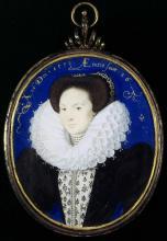 Portrait by Nicholas Hilliard: A Dark Lady - Emilia Bassano Lanier?