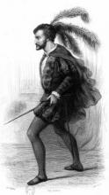 Portrait of French Actor Philibert Rouvière (1809-1865)