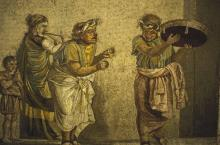 Roman Mosaic of Strolling Musicians