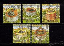 Royal Mail Stamps of Elizabethan Theatres Issued in 1995