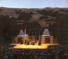 Set for Richard III at the Bruns Theatre: California Shakespeare Theatre, 2007.