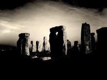 Stonehenge dramatically lit