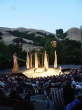 Sunset at California Shakespeare Theatre: Shaw's Arms and the Man.