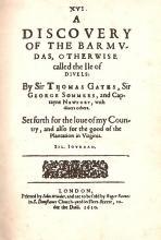 Sylvester Jordain, Discovery of the Barmudas, 1610
