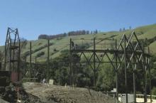 The Construction in Orinda of the Bruns Theatre of the California Shakespeare Festival. It opened in 1991.