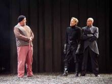 The Drunken Porter in Macbeth at the Bruns Theatre: California Shakespeare Theatre, 2002.