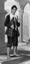 The Merchant of Venice, John Edmond Owens (1823-1886) as Launcelot Gobbo