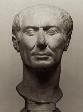 """The """"Tusculum portrait"""", a rare bust of Julius Caesar in his lifetime."""