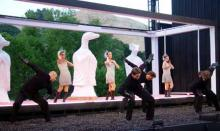 The Witches and their Familiars in Macbeth at the Bruns Theatre: California Shakespeare Theatre, 2002.