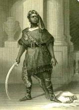Titus Andronicus, Ira Aldridge as Aaron the Moor