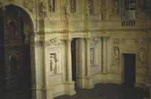 Vicenza's Teatro Olympico Stage Left Showing Lesser Entry Doors